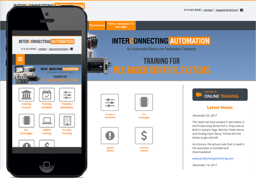 A second example screenshot of a responsive website made in Drupal