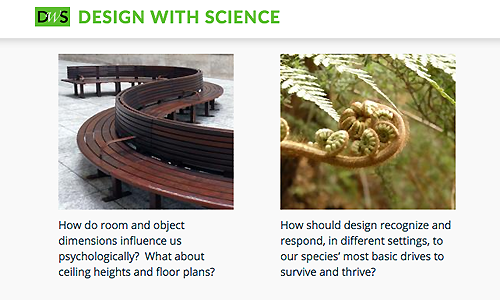 Section of Design With Science website