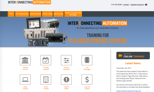Interconnecting Automation website