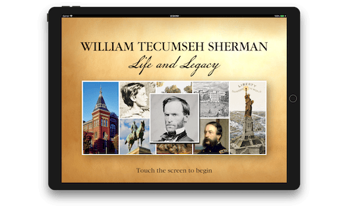 W. T. Sherman iPad exhibit